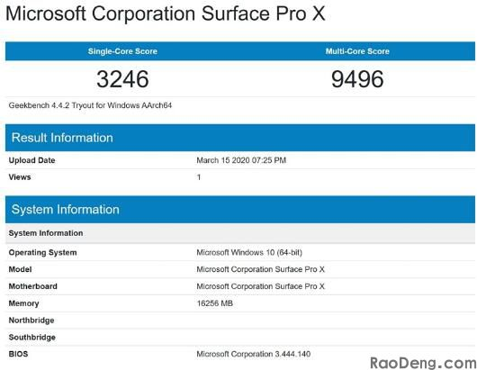 Microsoft Surface Pro X perfor